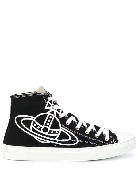 Logo-Print High Top Trainers