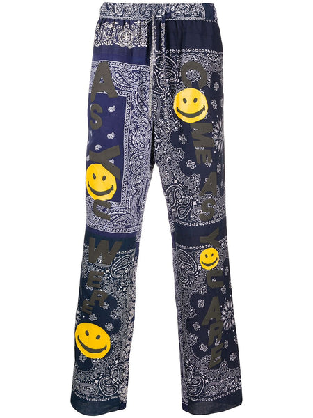 Smiley Face Bandanna Patch Trousers