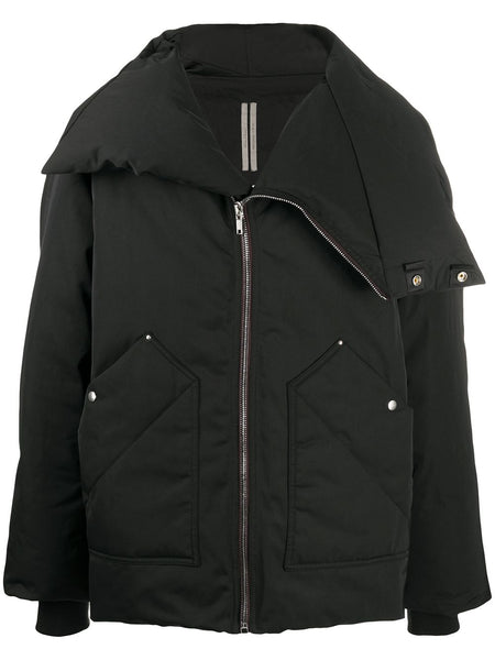 Asymmetric Padded Down Jacket
