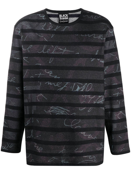 Long Sleeve Stripe Graphic