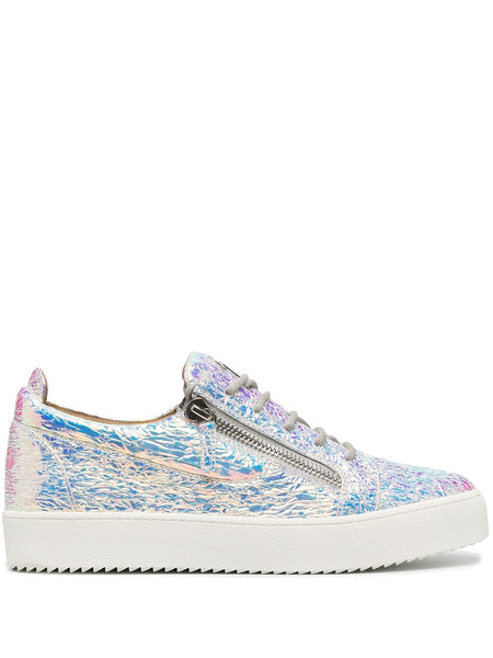 Low Top Holographic Effect Sneakers