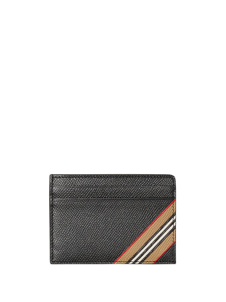 Icon-Stripe Grained Cardholder