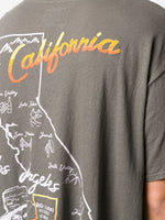 California Map Print T-Shirt