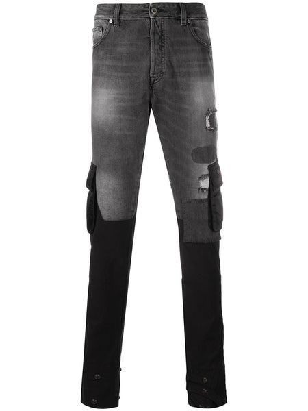 Contrast Mid Rise Slim Fit Jeans
