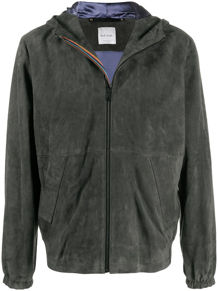 Suede Hooded Jacket