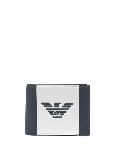 Two-Tone Embossed Logo Wallet