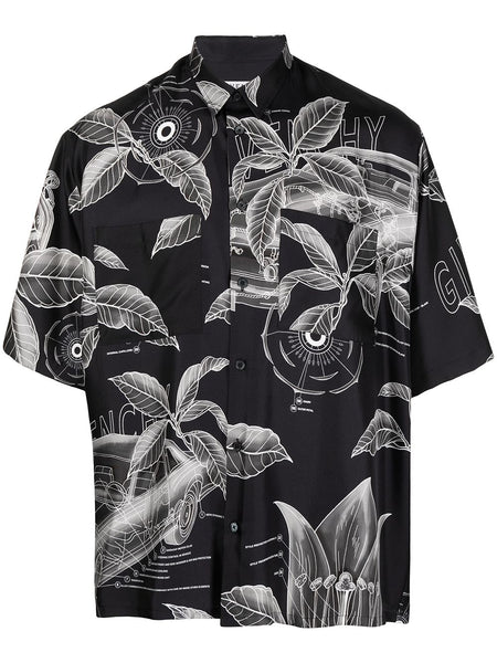 Palm Graphic Print Shirt