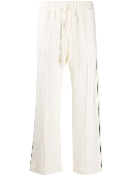 Cream Side Stripe Sweatpants