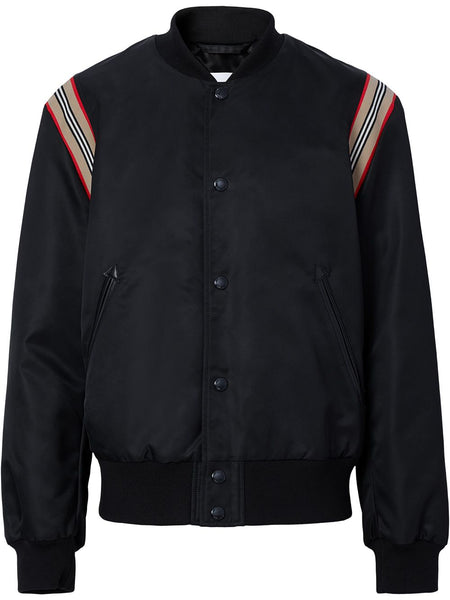 Icon Stripe Trim Bomber Jacket