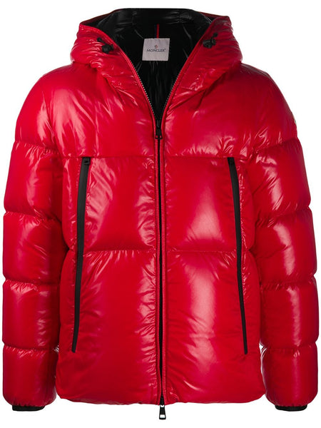 Red Zip Padded Jacket
