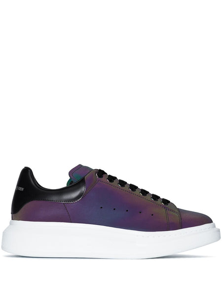 Iridescent Oversized Low-Top Sneakers