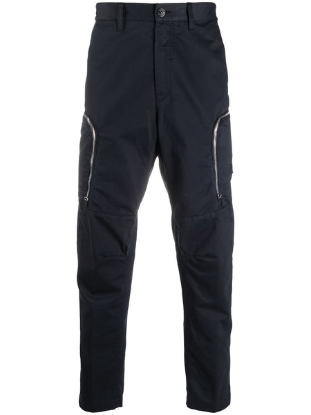 Mid-Rise Straight Trousers