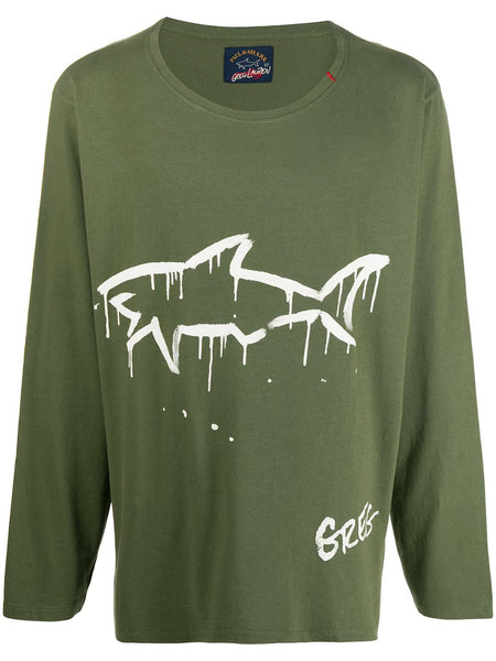 Shark Olive Green Long Sleeve