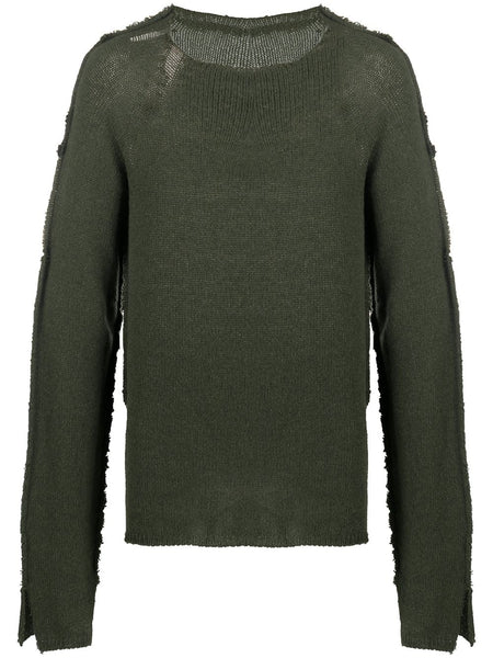 Contrasting-Panel Raw-Edge Jumper