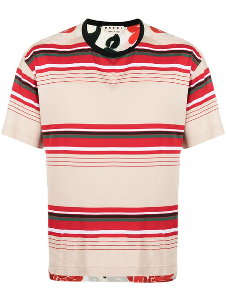 Panelled Striped T-Shirt