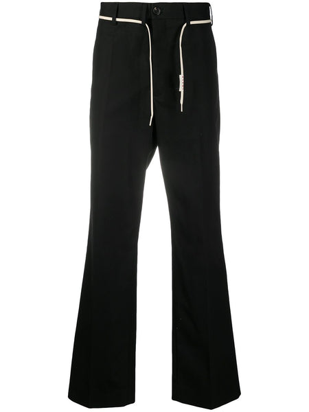 Drawstring-Waist Tailored Trousers