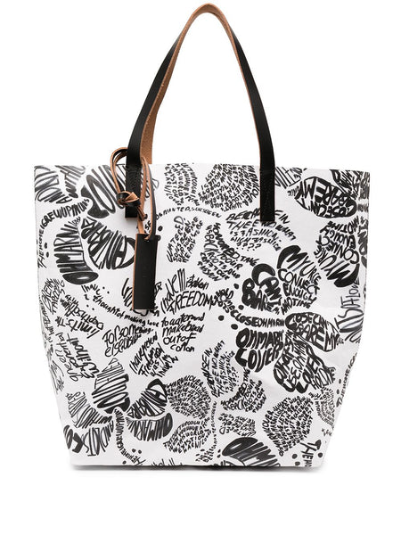 North-South Panelled Tote Bag