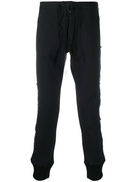 Logo Tape Sweat Pant Black
