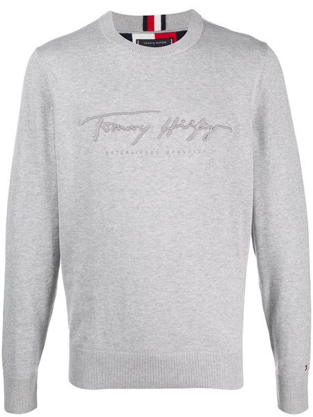 Logo-Embroidered Crew-Neck Jumper