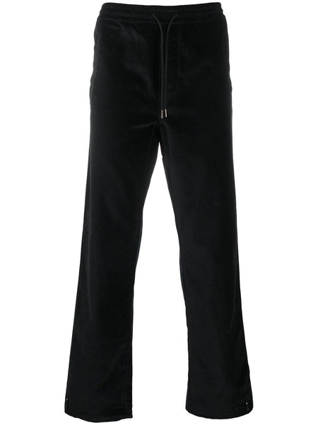 Velvet-Effect Track Trousers