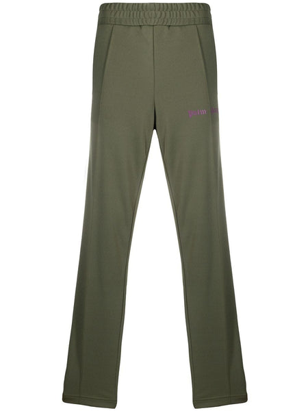 Military Green Purple Track Pants