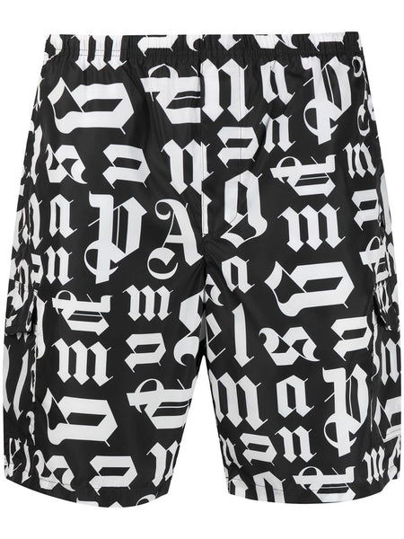 Monogram Print Swim Shorts