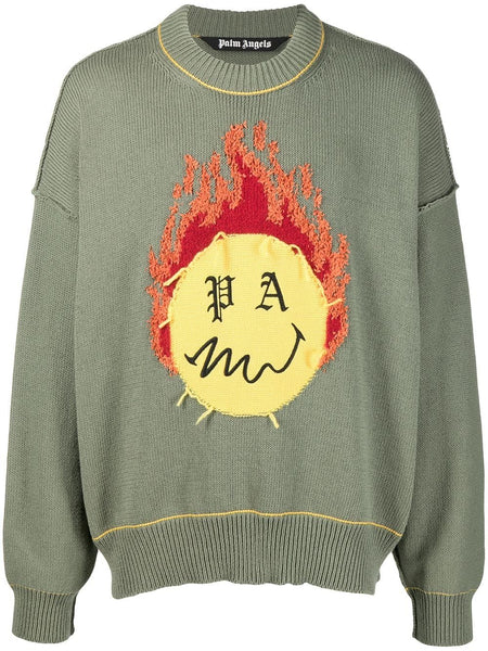 Burning Head Knitted Jumper