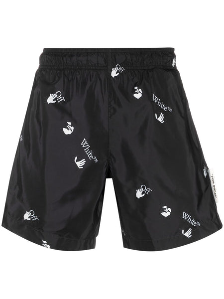 All-Over Logo-Print Swim Shorts