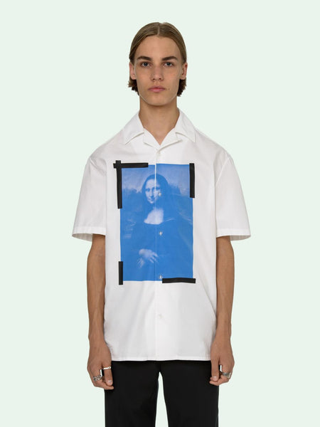 Blue Monalisa Holiday Shirt White Black