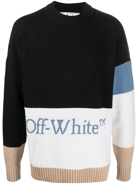 Blocked Crew Neck Black Coronet Blue