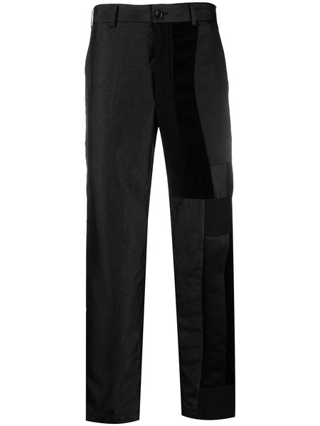 Patchwork Straight-Leg Trousers