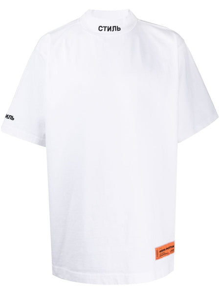 High Neck White T-shirt