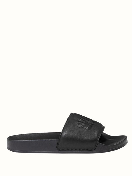 Leather Slides Black