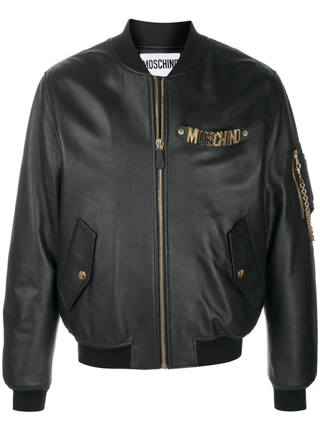 Logo-Plaque Bomber Jacket