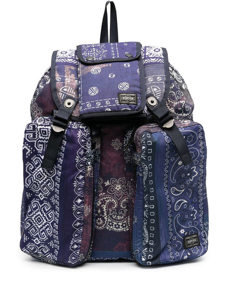 Paisley-Print Backpack