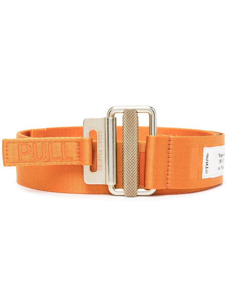 Orange Woven Tape Belt