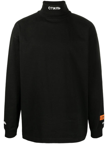 High Neck Black Long Sleeve