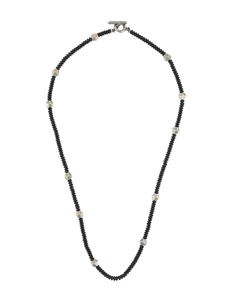 Bead Chain Stud-Detailed Necklace