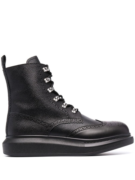 Ankle-Length Lace-Up Boots