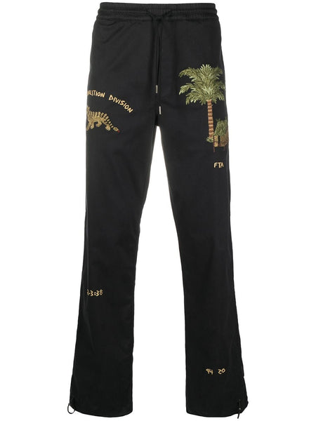 Embroidered-Detail Trousers