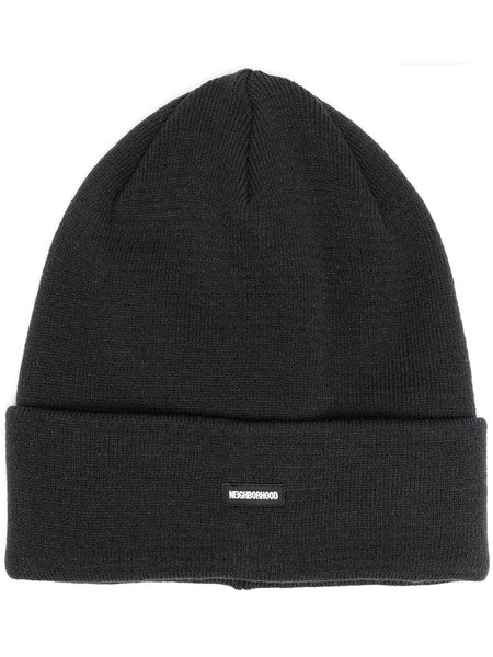 Logo-Patch Knitted Beanie Hat