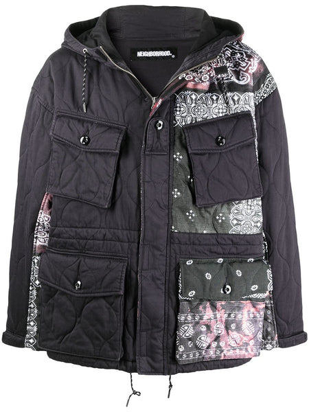 Paisley Print Hooded Coat