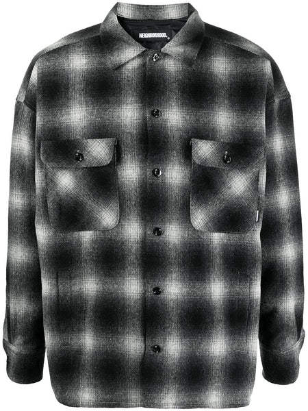 Faded Check Shirt Jacket