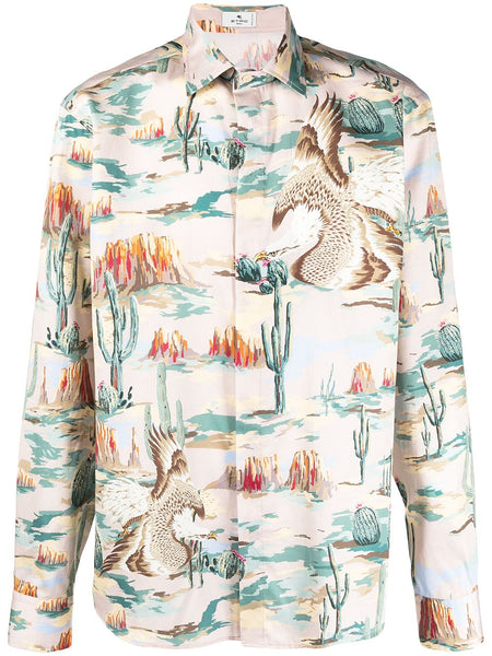 Graphic-Print Cotton Shirt
