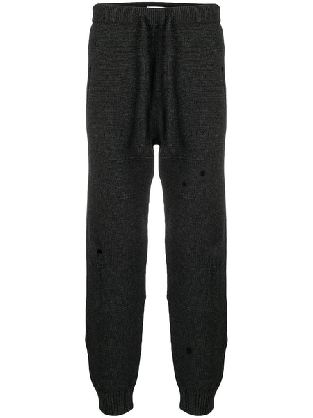 Knitted Drawstring Track Pants