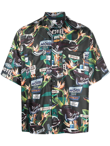 Motel Print Short-Sleeve Shirt