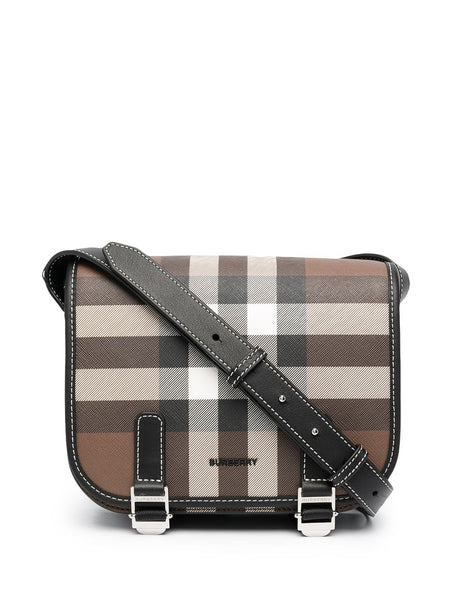 Check-Print Messenger Bag