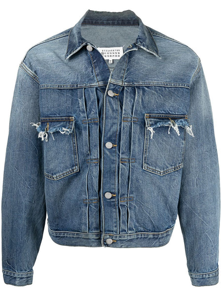 Frayed Effect Denim Jacket