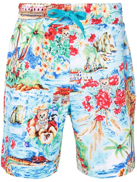 Graphic Print Swimming Shorts