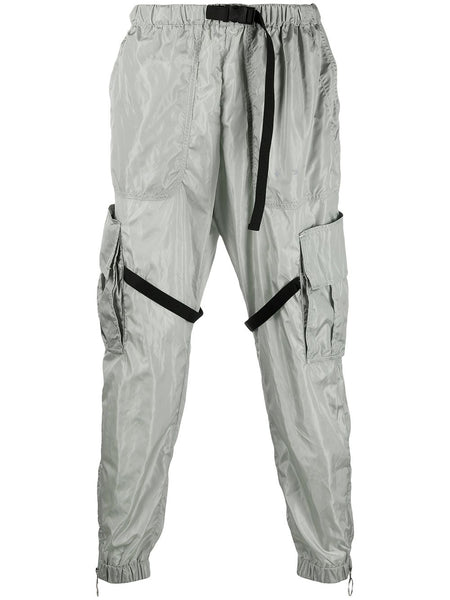 Zip-Detail Tapered Trousers